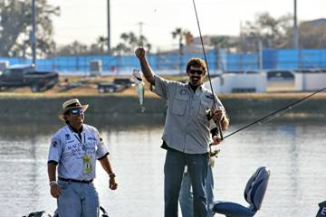 Boris Said and fishing guide Joe Clements