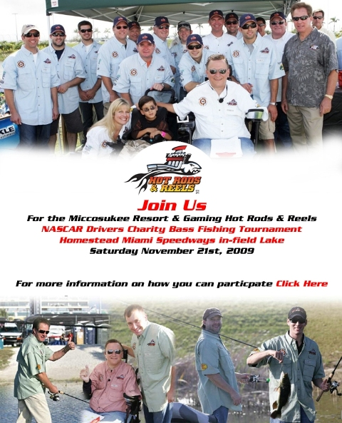 NASCAR Bass Fishing Tournament