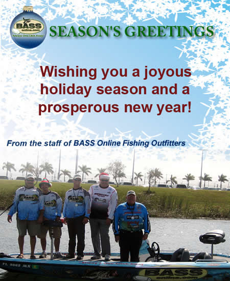 Florida bass fishingxmas card