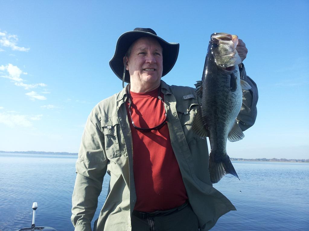 Lake toho bass fishing with capt john leech orlando for Bass fishing guides orlando fl