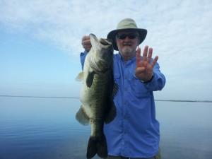 George Konduris fishing Lake Toho