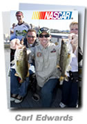 Carl Edwards bass fishing trip