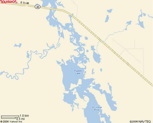 Puzzle Lake Map