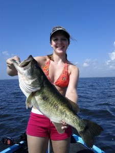 Florida bass fishing on Lake Okeechobee