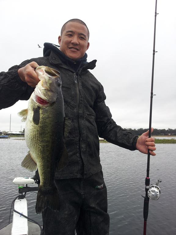 Trophy bass on Lake Toho