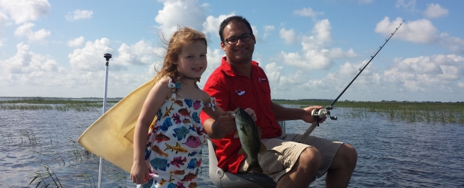 Sofia and dad Haque making fishing dreams
