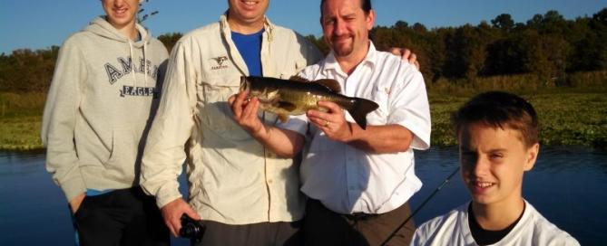 Christian and Stuart from the U. K. on Rodman Reservoir