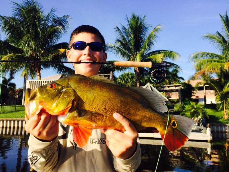His Biggest Peacock Bass on a Fly Rod