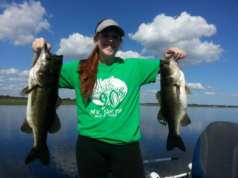 "It was ""Simply Her Day"" Today on Lake Toho"