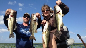 Jason and Sue on Lake Okeechobee