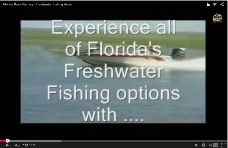 video de la pesca de agua dulce de la Florida