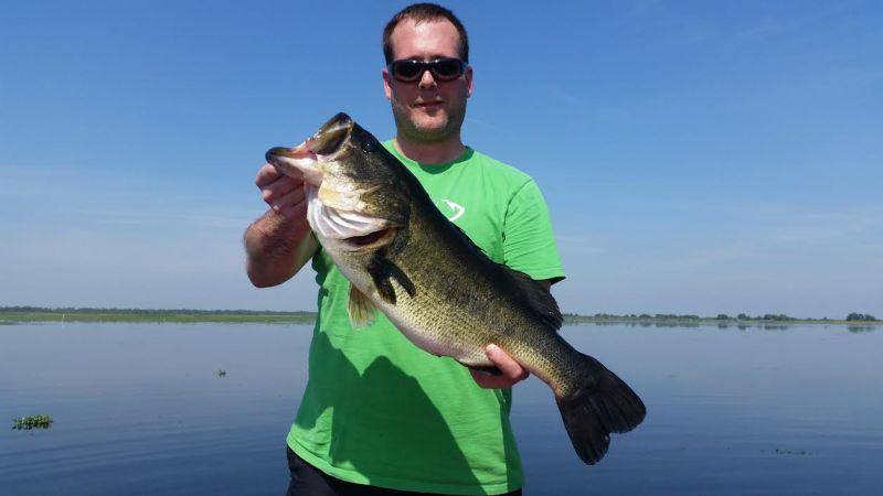 We caught over 200 bass, big fish!