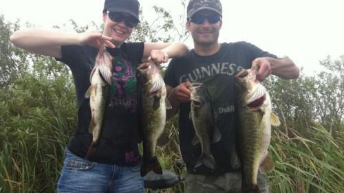 Steve and Jen Everglades fishing