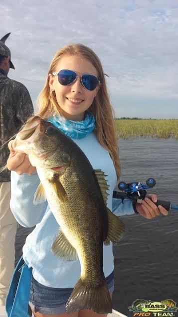 Cheyenne having caught 16 of the Bass Herself