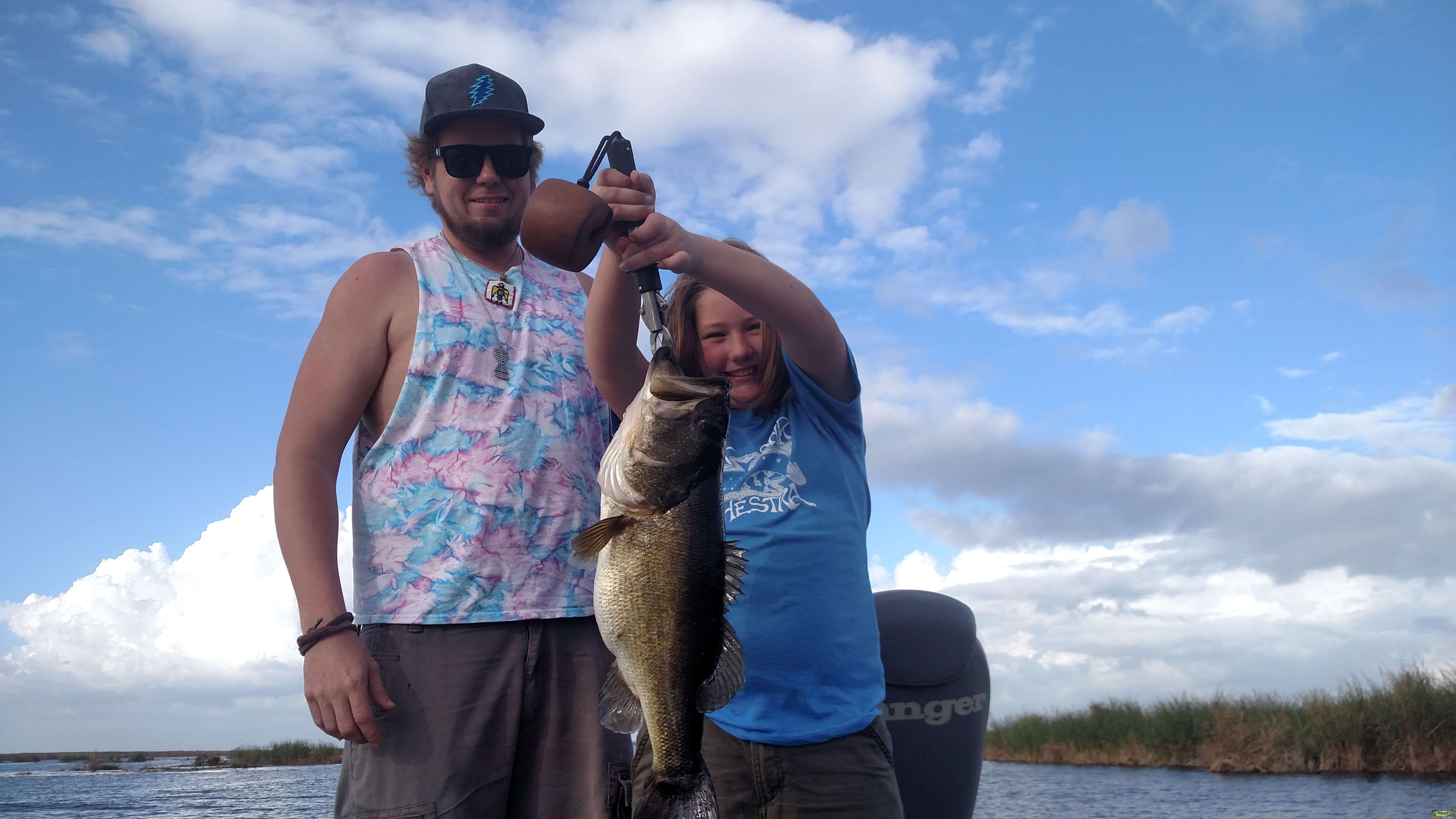Calvin laid into a beautiful personal best 7 pound trophy bass